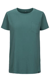 Macpac Basic Pocket Fairtrade Organic Cotton Tee — Women's, Hydro, hi-res