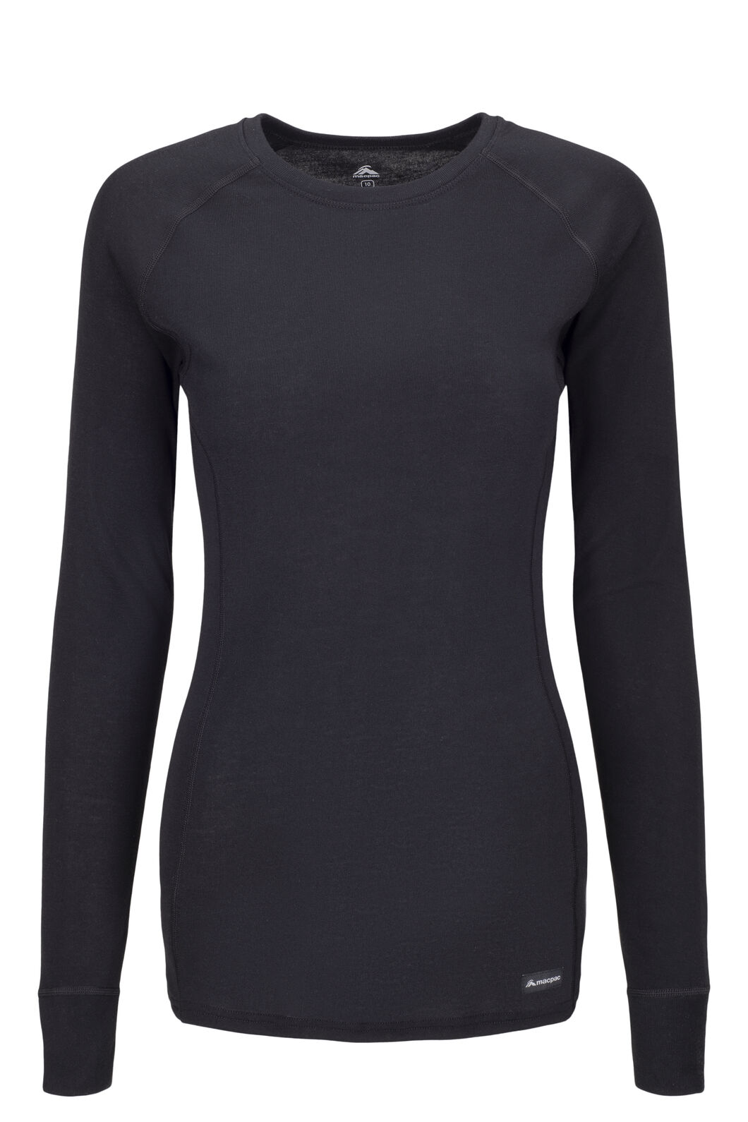 Macpac Women's Geothermal Long Sleeve Top, Black, hi-res