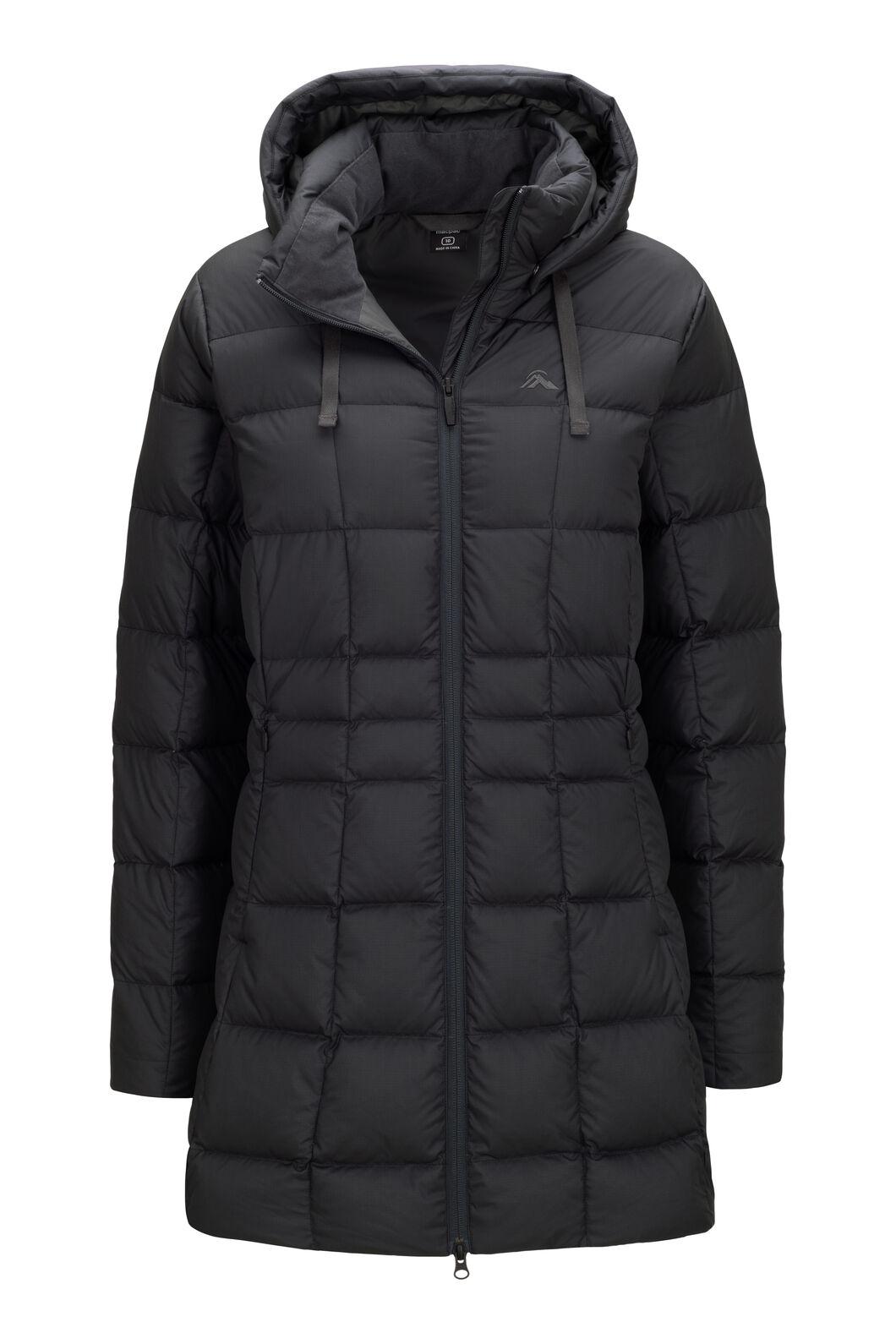 Macpac Aurora Hooded Down Coat — Women's, Black, hi-res