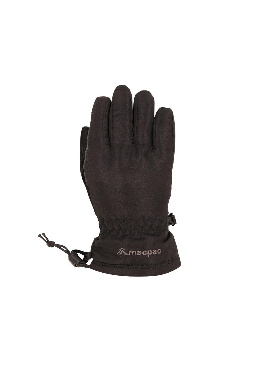 Macpac Spree Ski Gloves, Black, hi-res