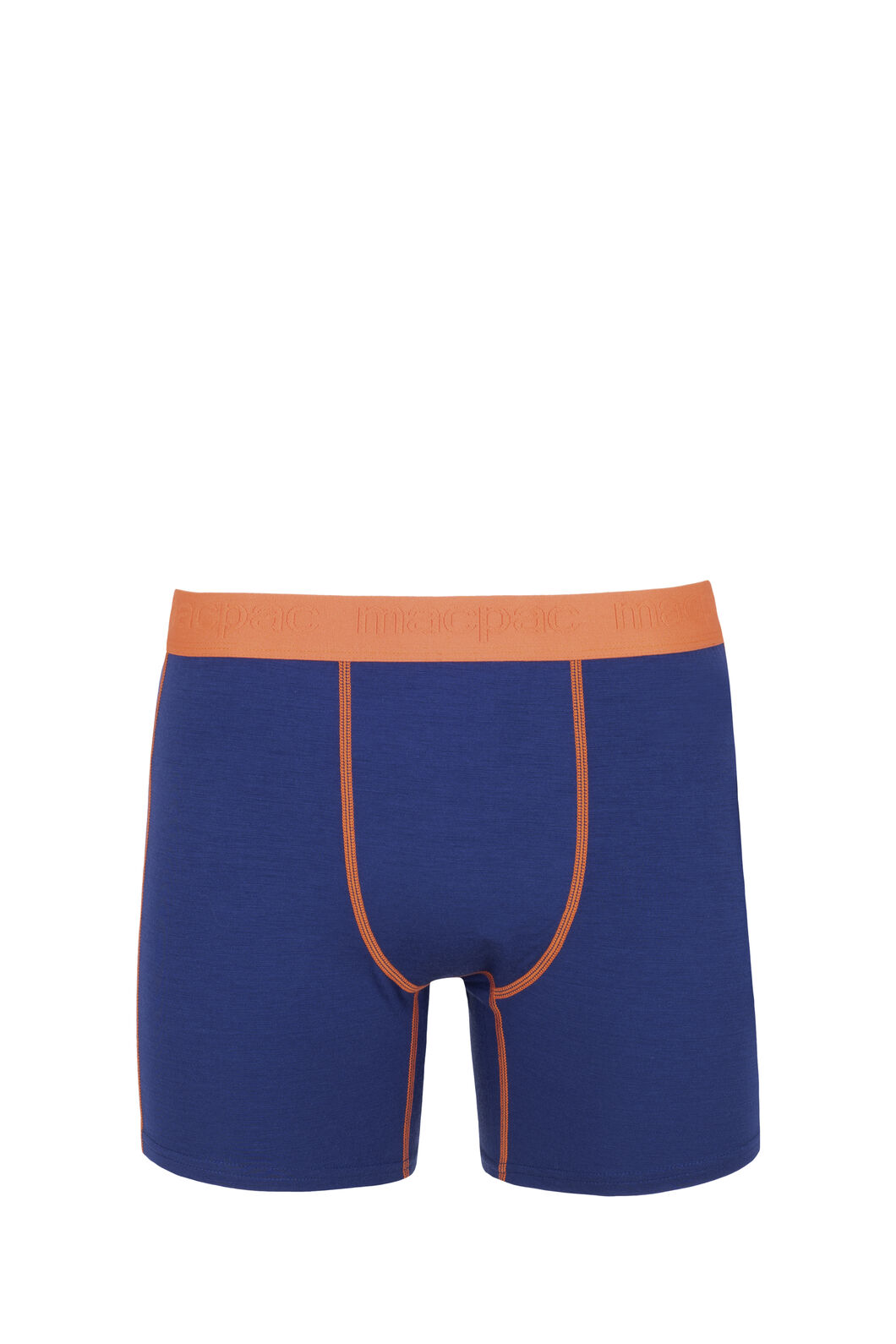 Macpac 180 Merino Boxers - Men's, Blue Depths/Burnt Orange, hi-res