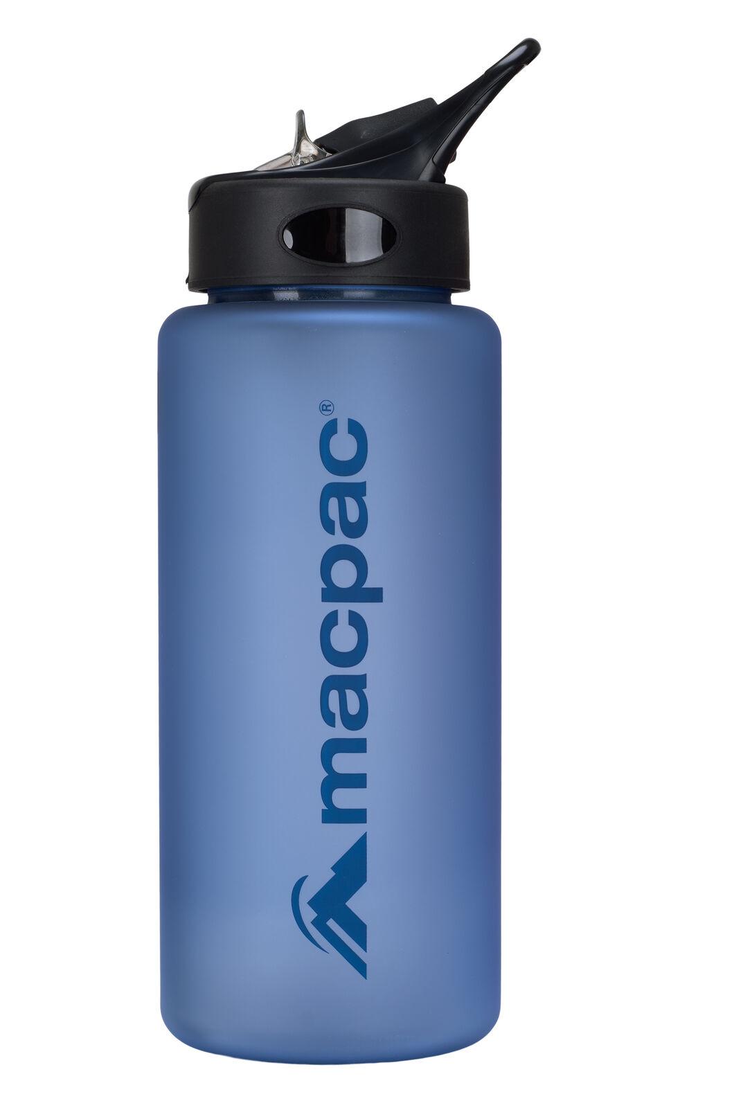 Macpac Flip Top Water Bottle — 850ml, Methyl/Dark Blue, hi-res