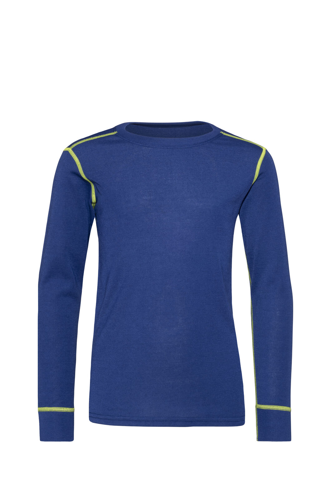 Macpac Geothermal Long Sleeve Top — Kids', Blueprint/Lime Green, hi-res