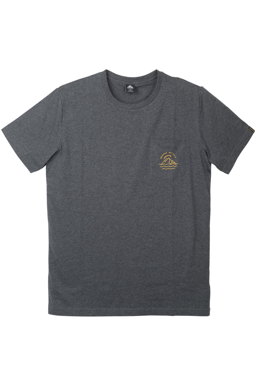 Pocket Organic Cotton Tee - Men's, Charcoal Marle, hi-res