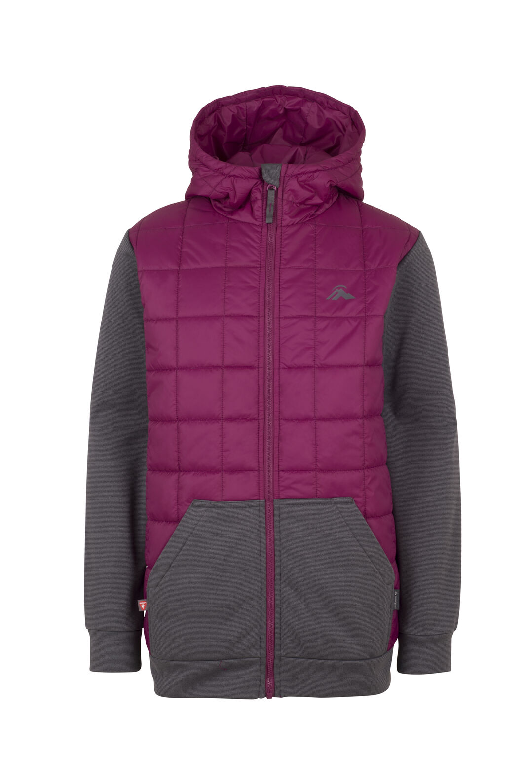 Macpac Campfire PrimaLoft® Hybrid Jacket - Kids', Magenta/Asphalt, hi-res