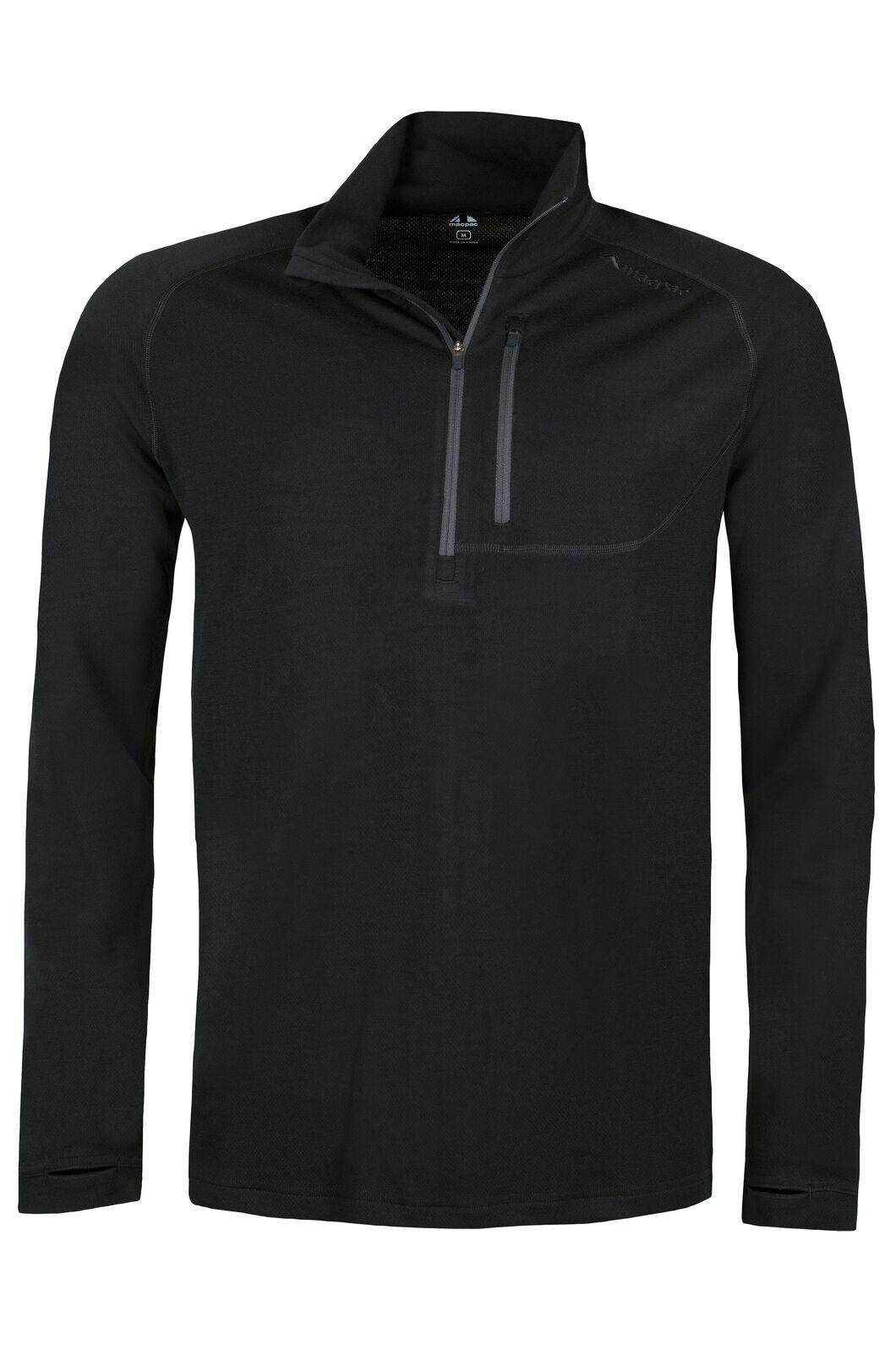 Nikau 230 Merino Pullover - Men's, Black, hi-res
