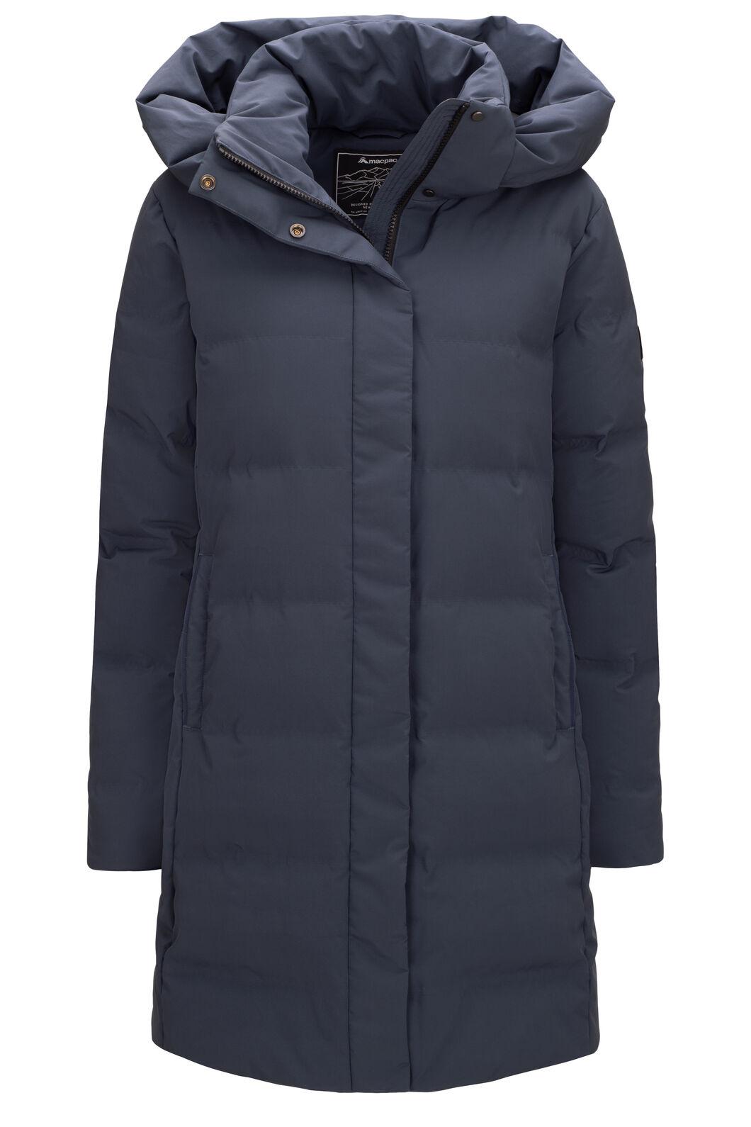 Macpac Narvi Down Coat — Women's, BLUE NIGHTS, hi-res