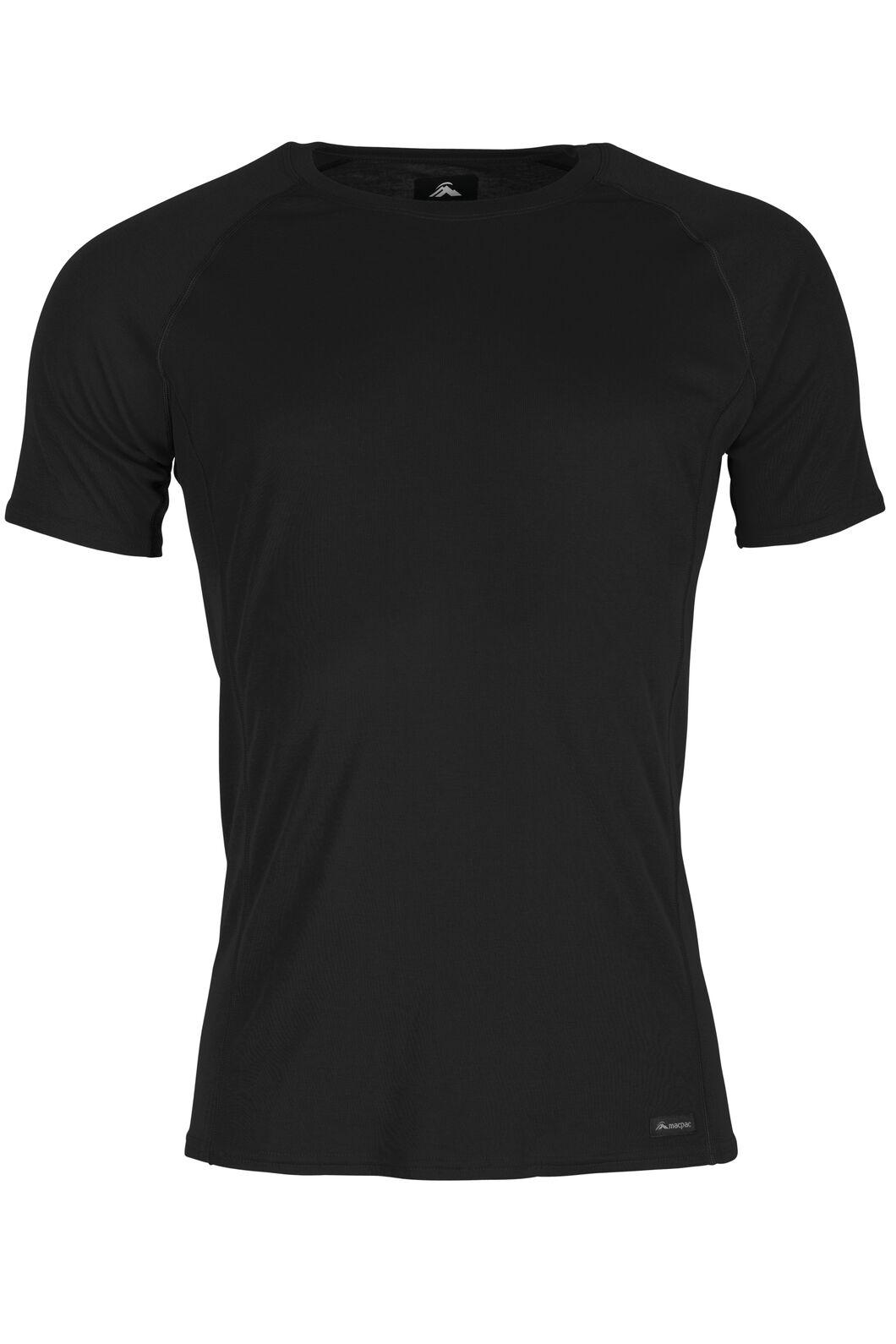 Macpac Geothermal Short Sleeve Top — Men's, Black, hi-res