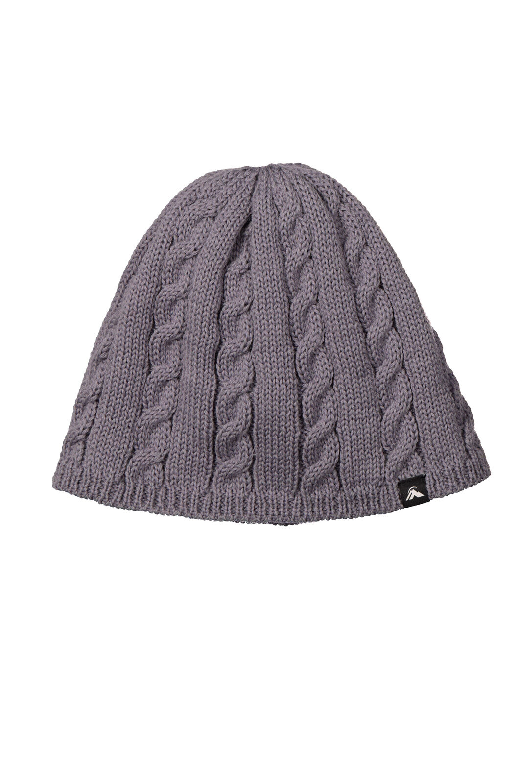 Cable Beanie, Mid Grey Marle, hi-res