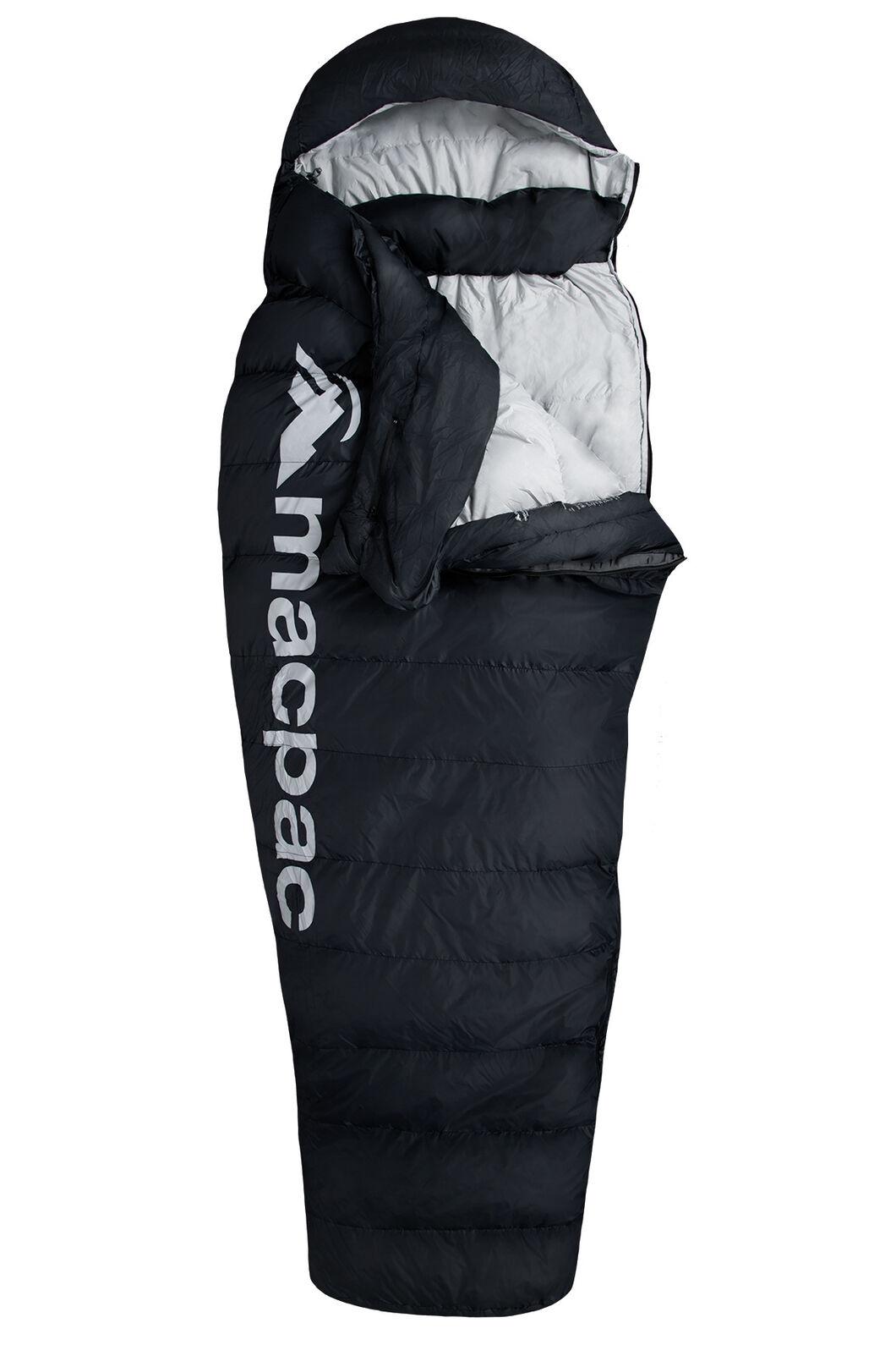 Macpac Overland Down 400 Sleeping Bag - Standard, Black, hi-res