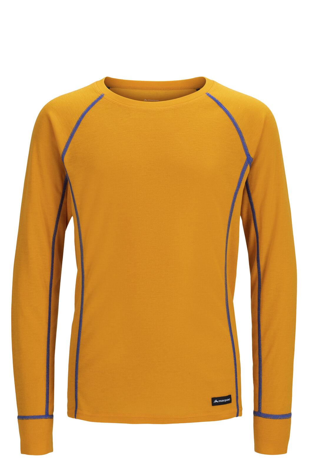 Macpac Geothermal Long Sleeve Top — Kids', Cadmium Yellow, hi-res