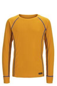 Macpac Geothermal Long Sleeve Top — Kids' (V2), Cadmium Yellow, hi-res