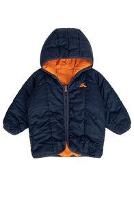 Macpac Pulsar PrimaLoft® Hooded Jacket — Baby, Black Iris/Russet Orange, hi-res