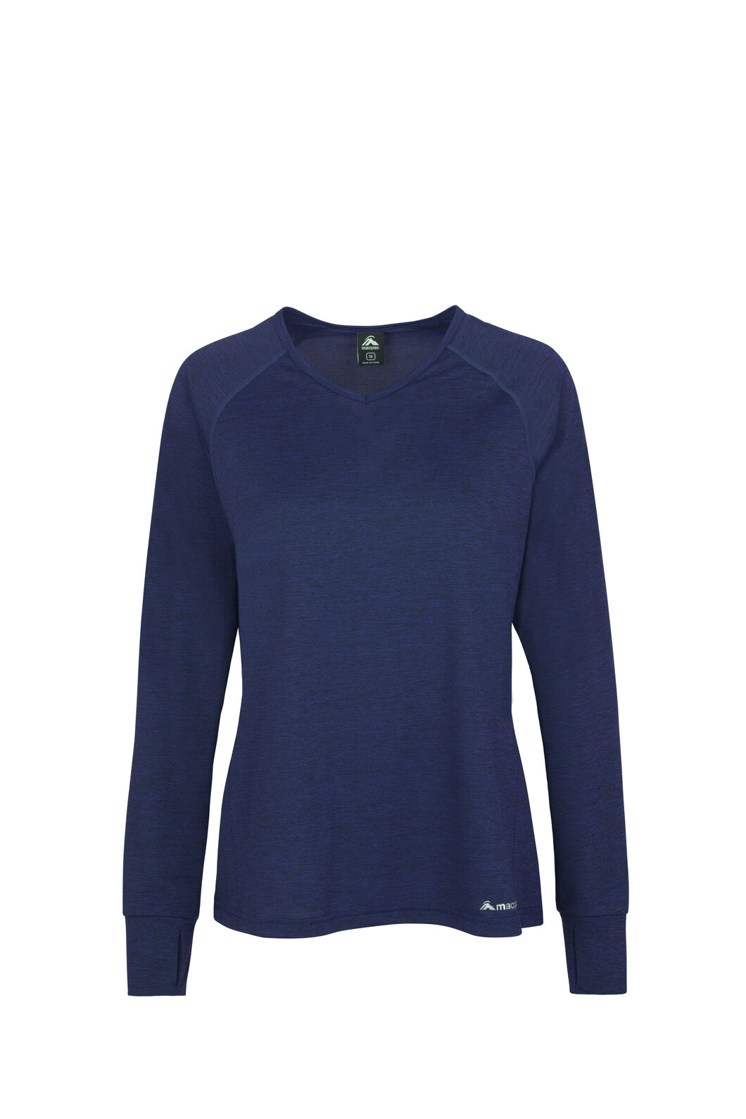 Macpac Take a Hike Long Sleeve Tee - Women's, Medieval Blue, hi-res