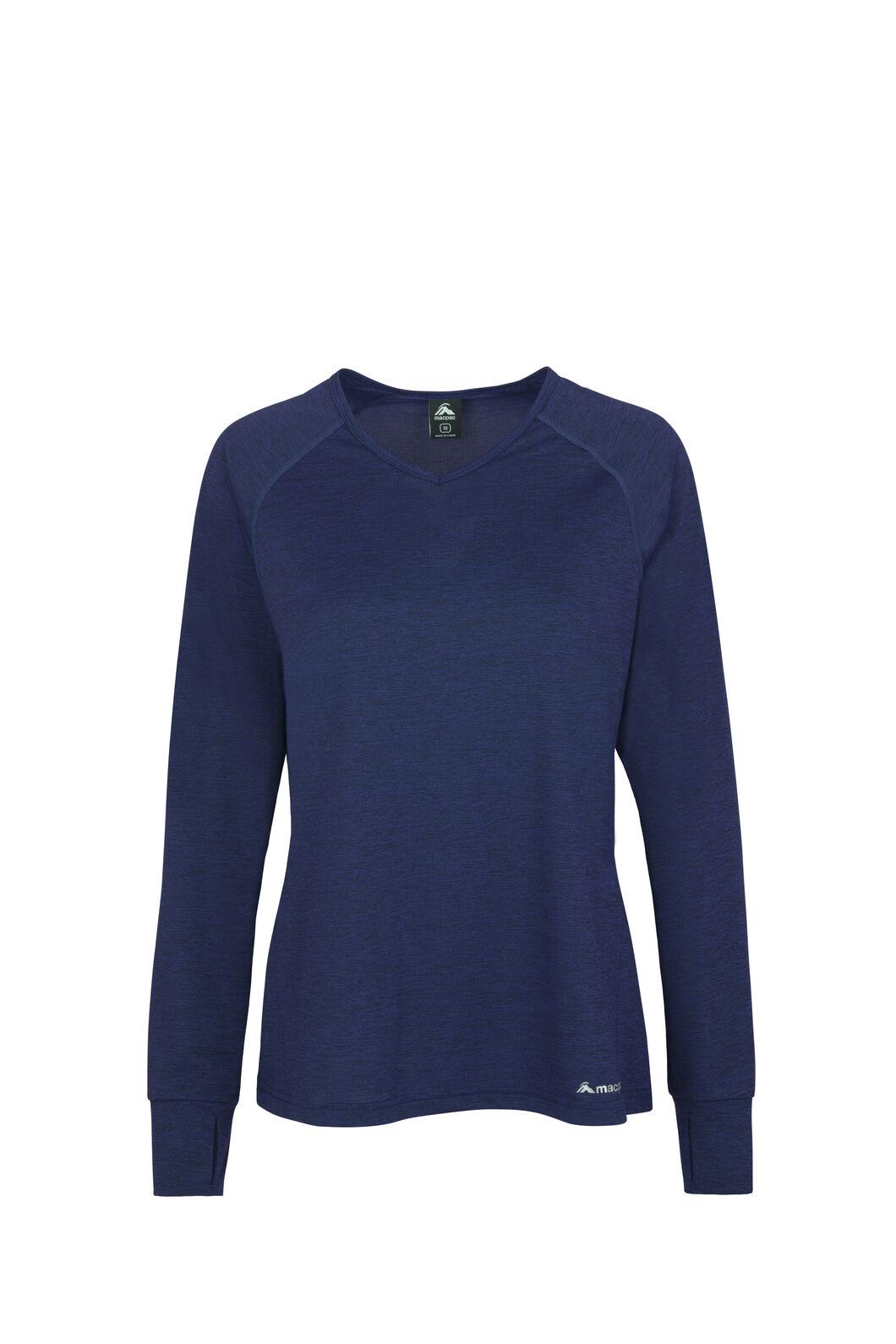 Macpac Take a Hike Long Sleeve Tee - Women's, Medieval Blue, hi-res