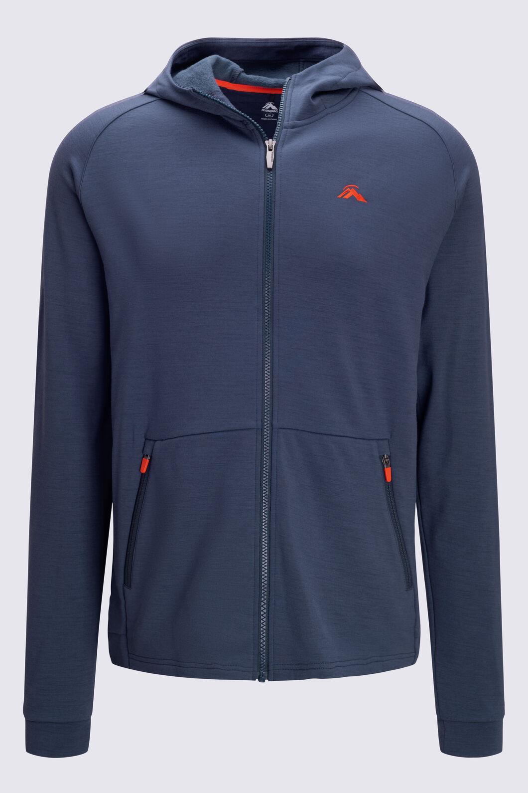 Macpac Men's Craigieburn 280 Merino Blend Hooded Jacket, BLUE NIGHTS, hi-res
