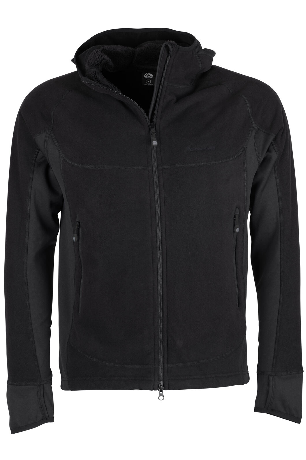 Mountain Hooded Pontetorto® Fleece Jacket - Men's, Black/Black, hi-res