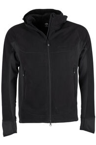 Mountain Hooded Pontetorto® Fleece Jacket - Men's, Black/Black, hi-res