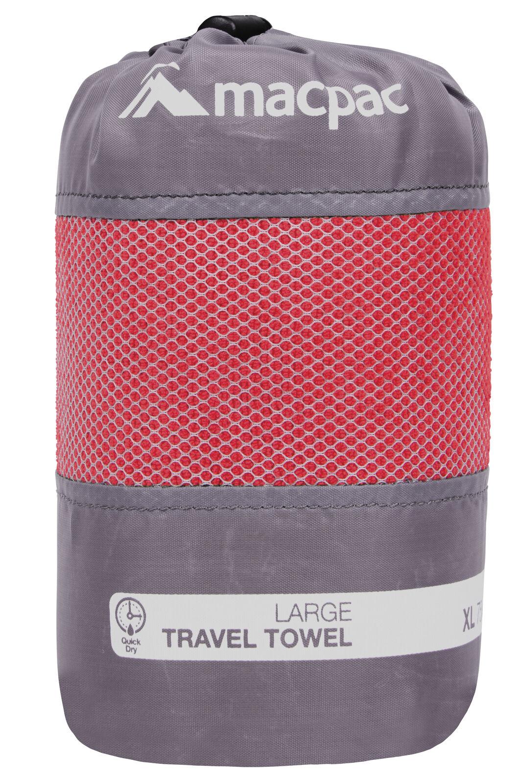 Macpac Travel Towel Large, Red, hi-res