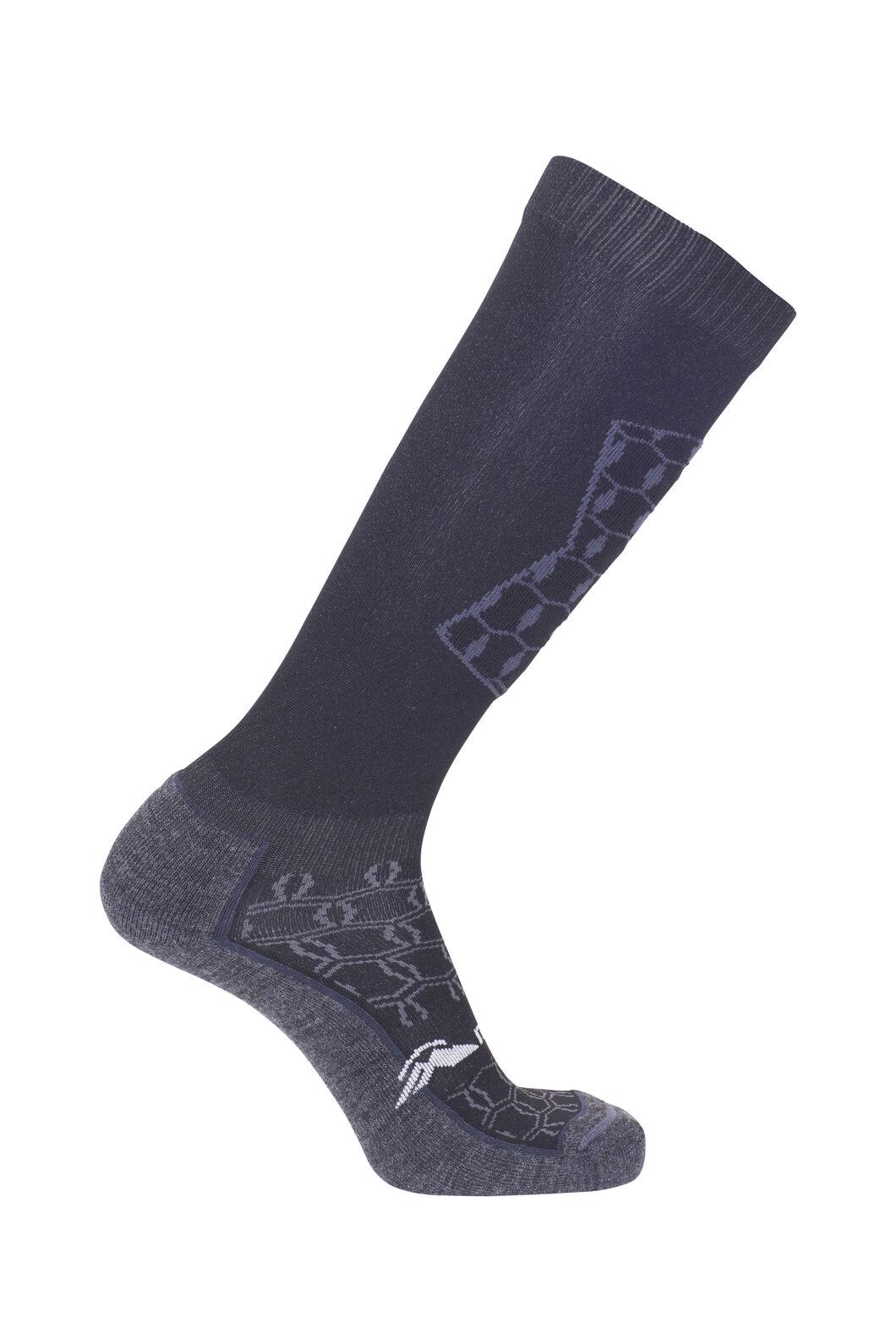 Macpac Tech Ski Socks, Black/Charcoal, hi-res