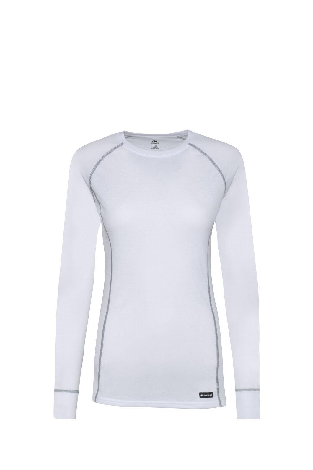 Macpac Geothermal Long Sleeve Top — Women's, White/White, hi-res