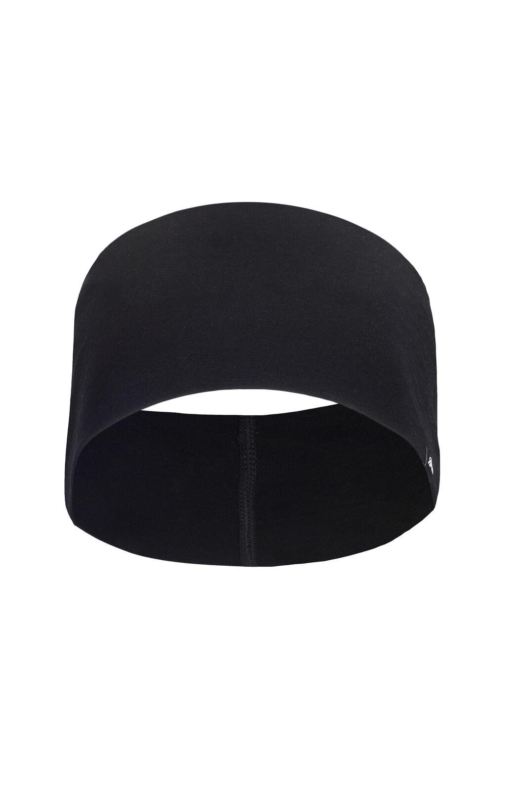Macpac 150 Merino Headband, Black, hi-res
