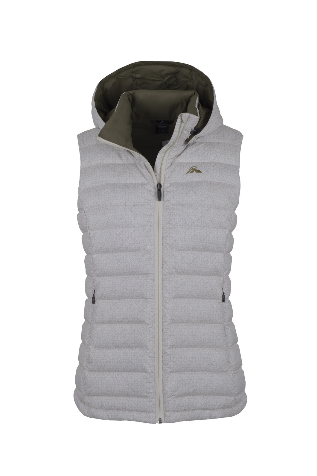 Macpac Zodiac Hooded Down Vest - Women's, Snow White Tile, hi-res