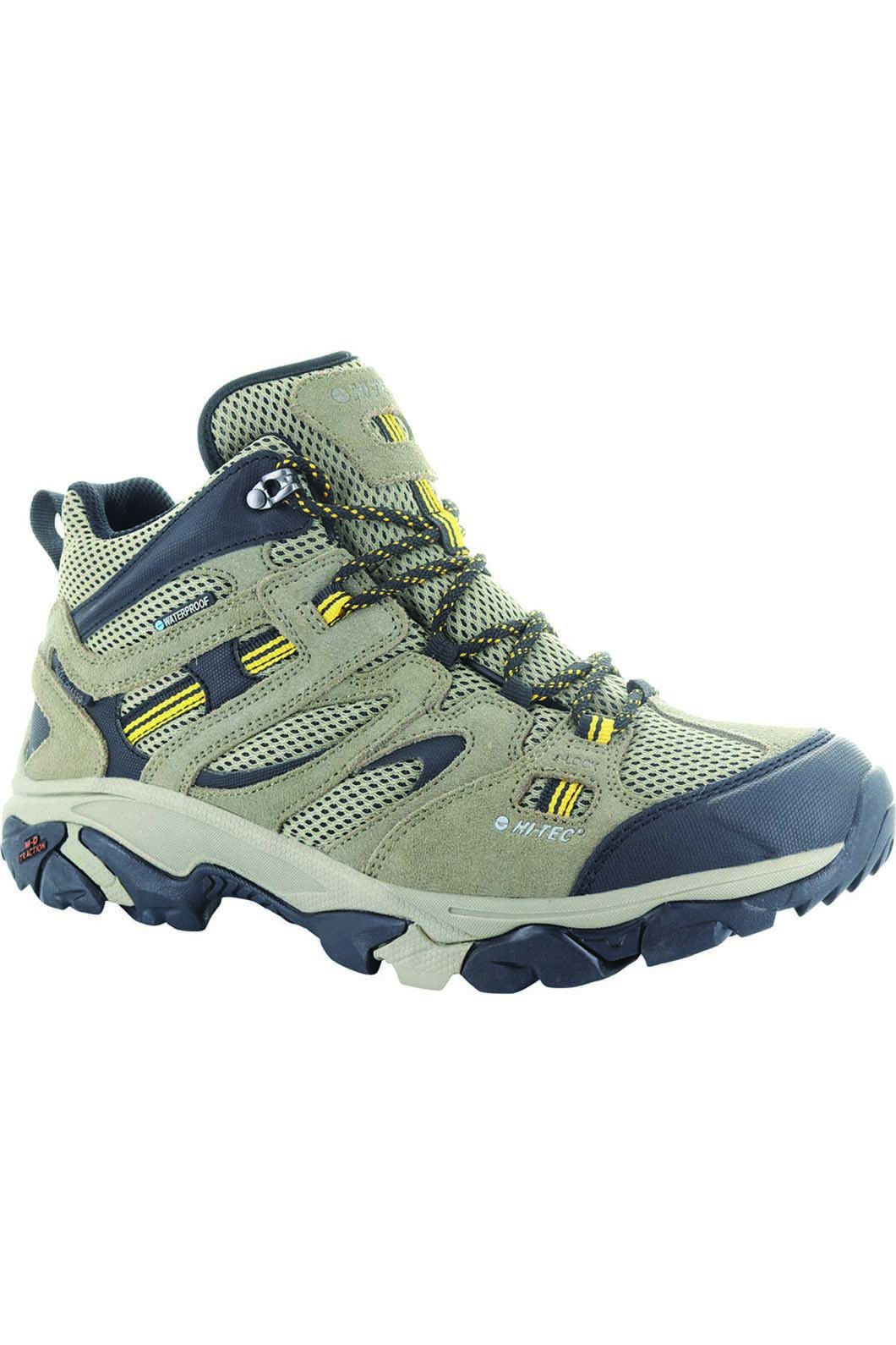 Hi-Tec Men's Ravus Adventure Hiking Boots, Taupe/Stone/Core Gold, hi-res