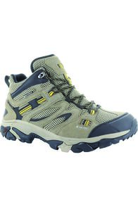 Hi-Tec Men's Ravus Adventure Hiking Boots, Taupe/Stone/Core Gold, hi-res