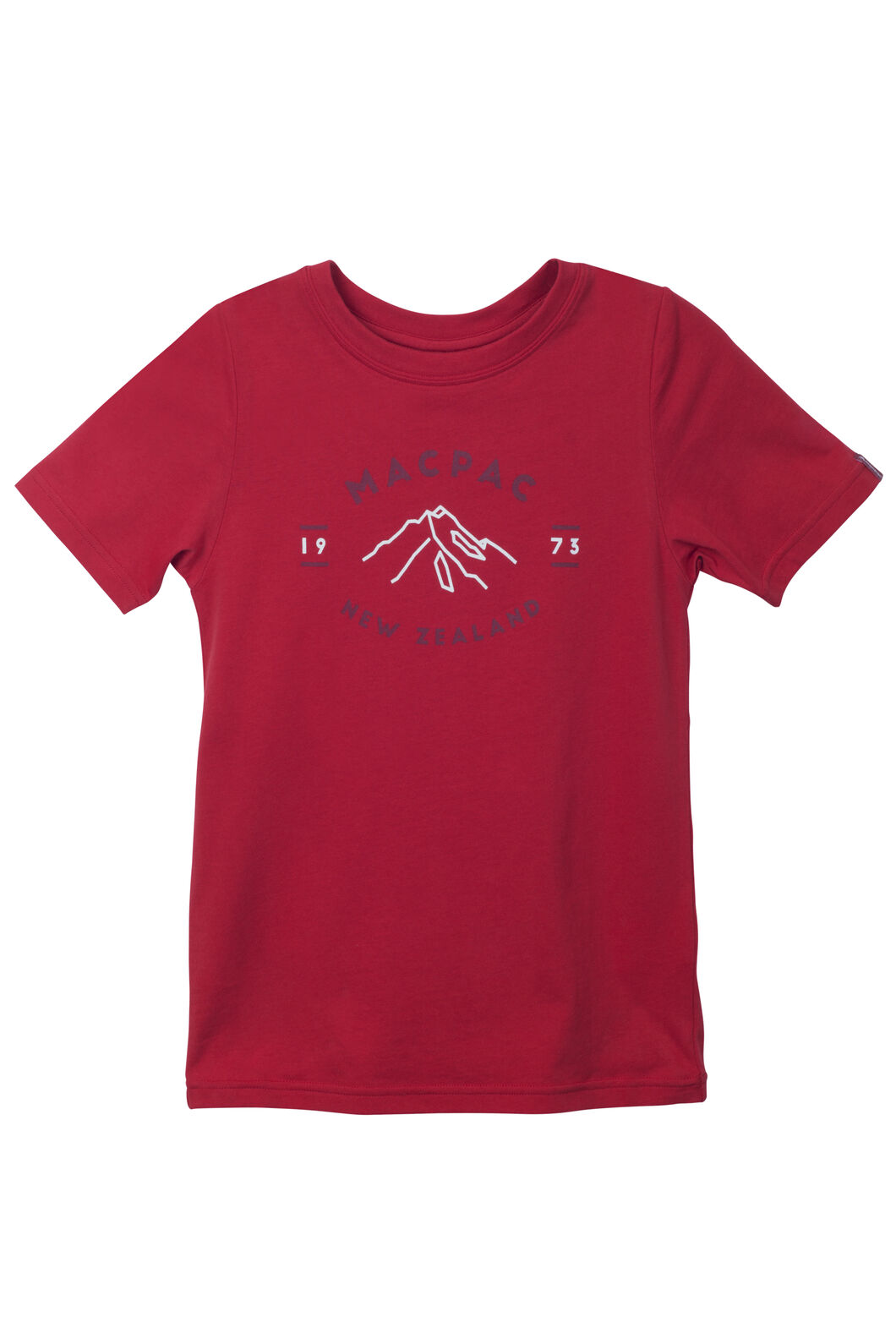 Macpac Mountain Print Organic Cotton Tee - Kids', Pompeian, hi-res