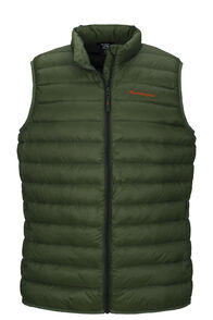 Macpac Uber Light Down Vest — Men's, Bronze Green, hi-res