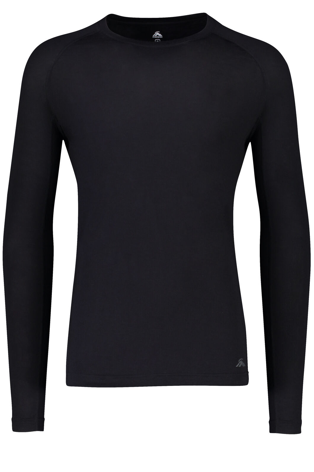 Macpac 150 Merino Long Sleeve Top - Men's, Black, hi-res