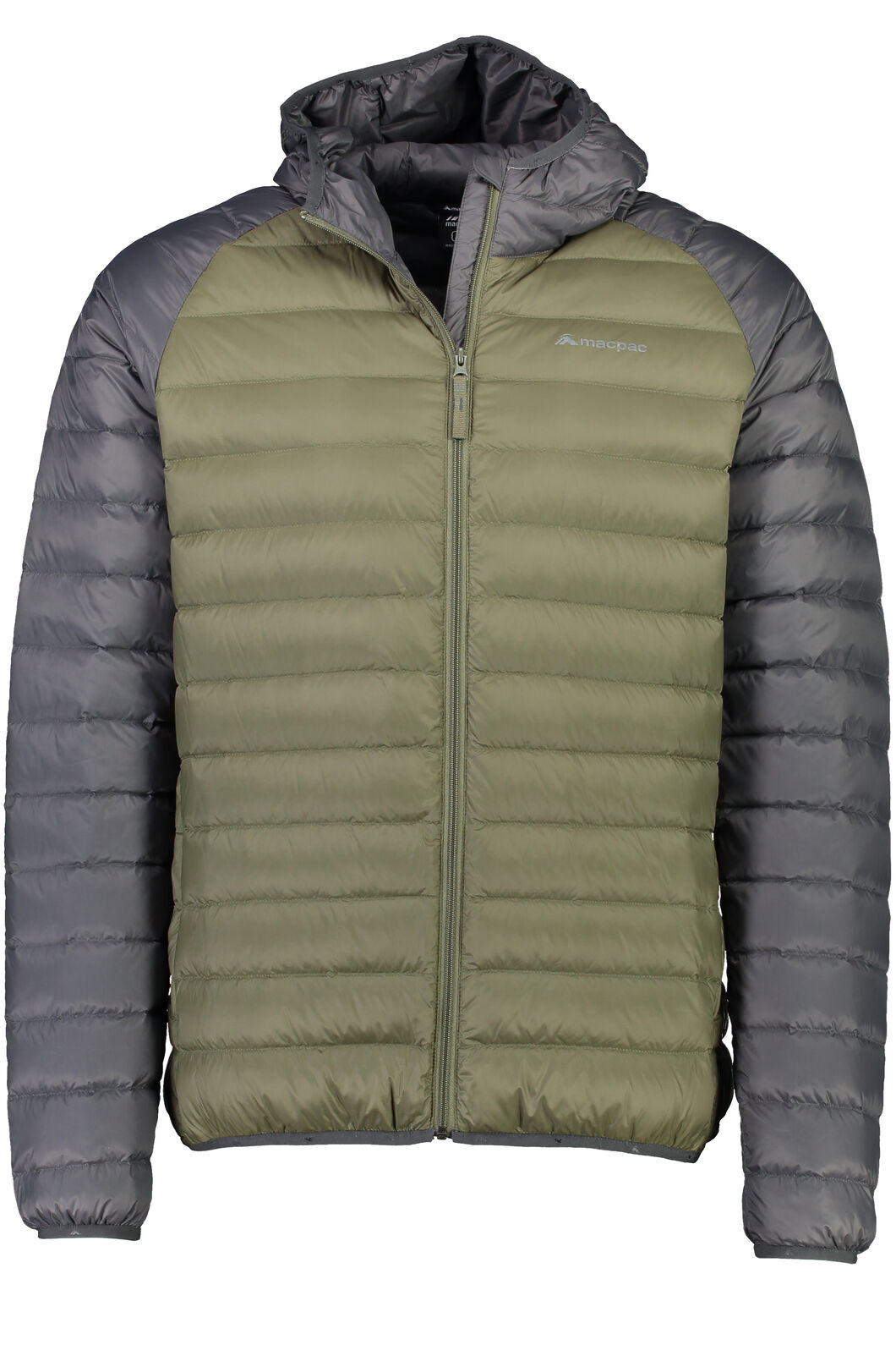 Macpac Uber Hooded Down Jacket - Men's, Grape Leaf/Asphalt, hi-res