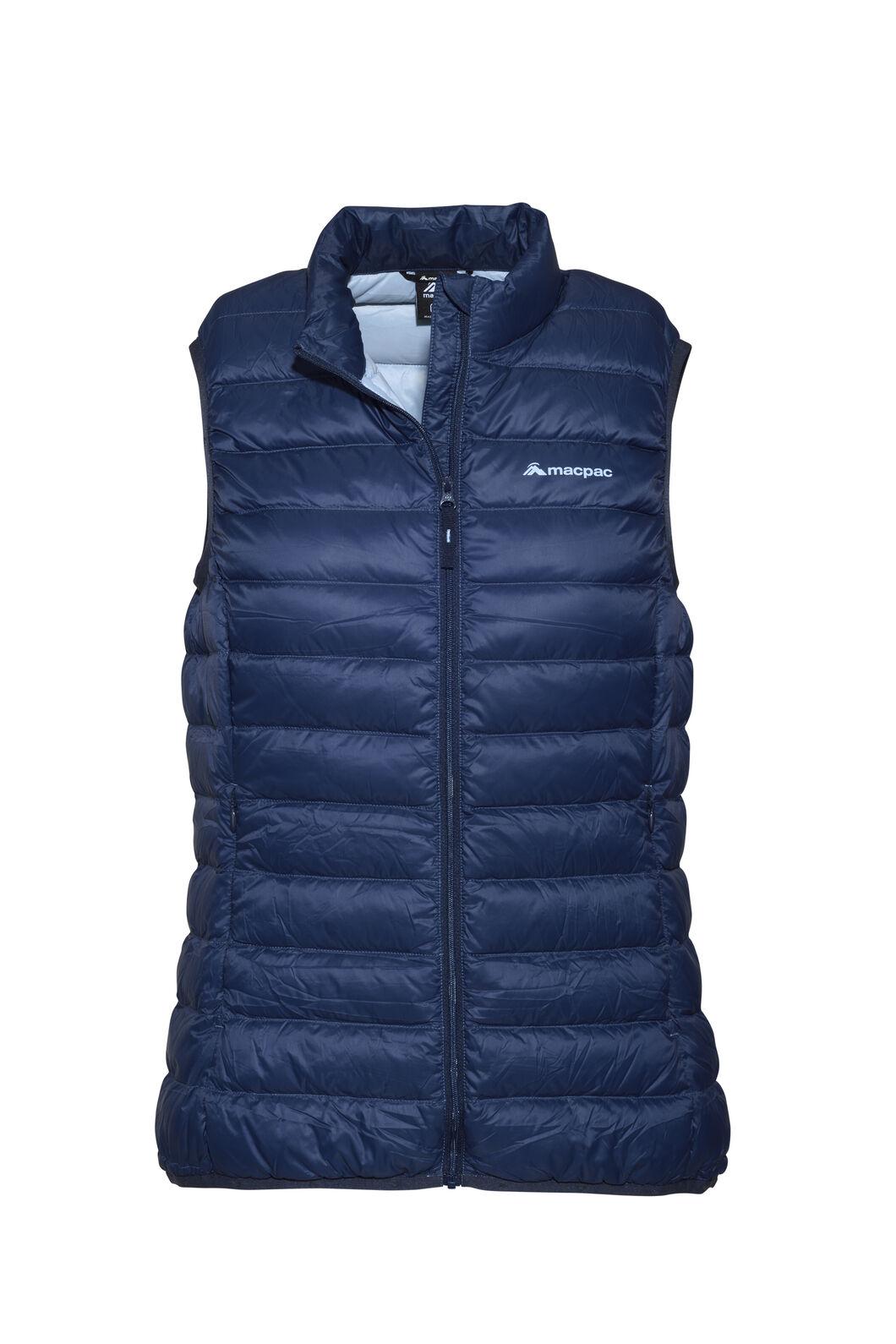 Macpac Uber Light Down Vest - Women's, Black Iris/Blue Fog, hi-res