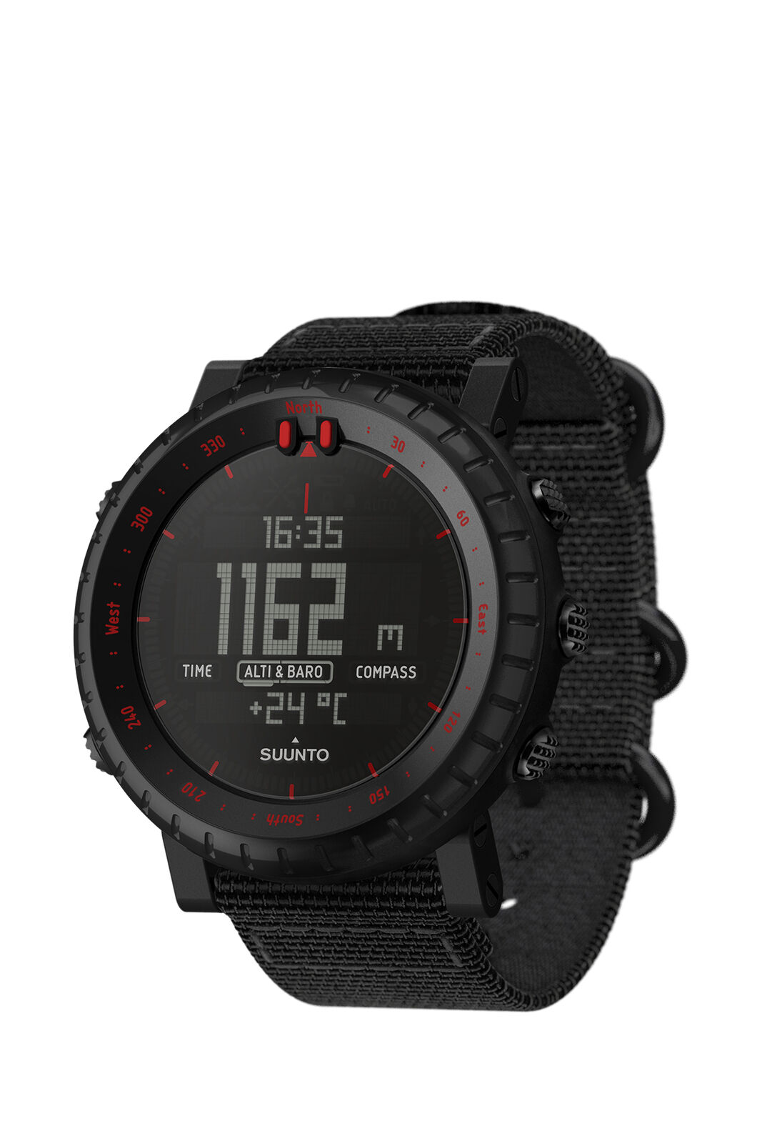 Suunto Core Outdoor Watch, Black/Red, hi-res