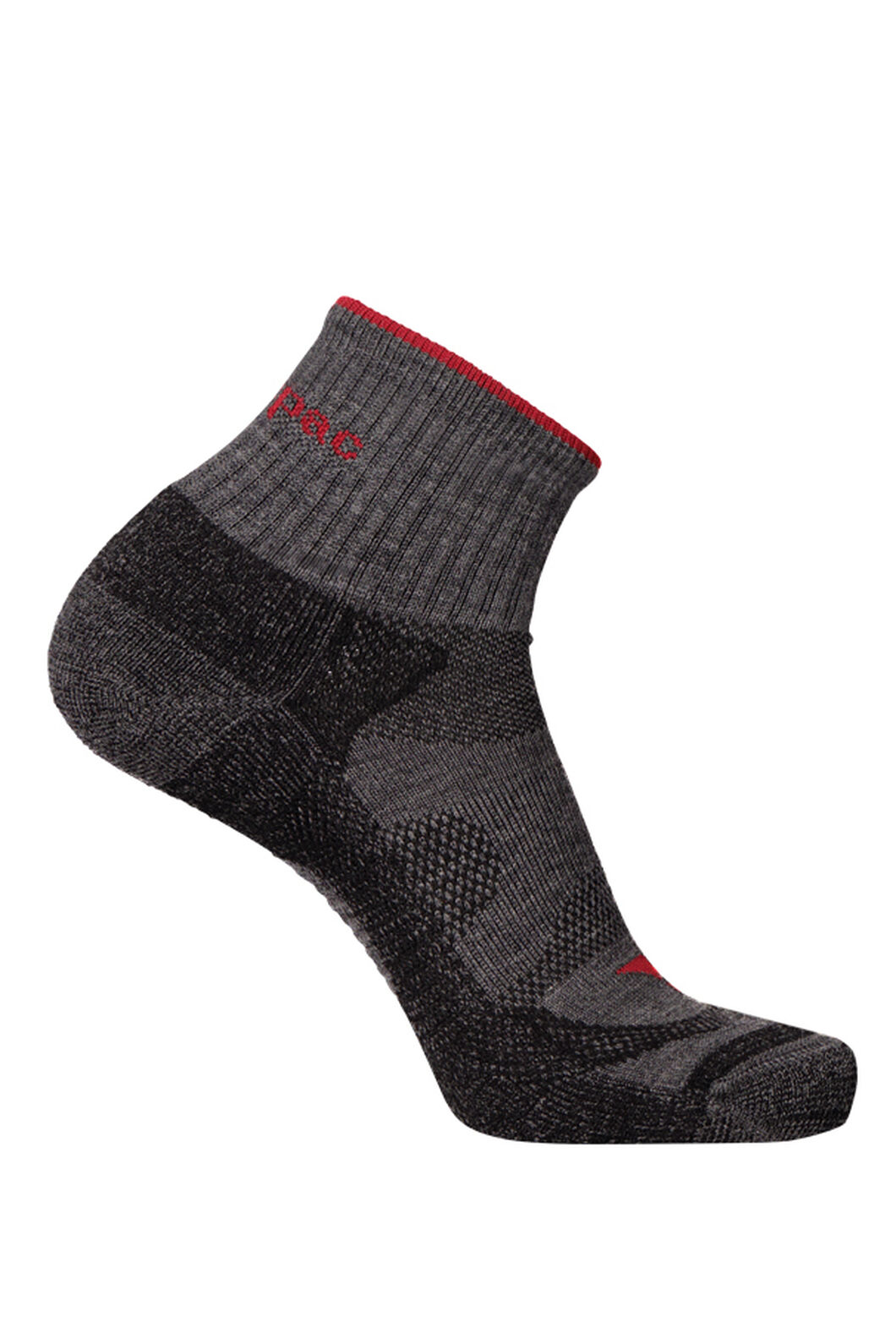 Macpac Merino Quarter Socks, Forged Iron Melange, hi-res