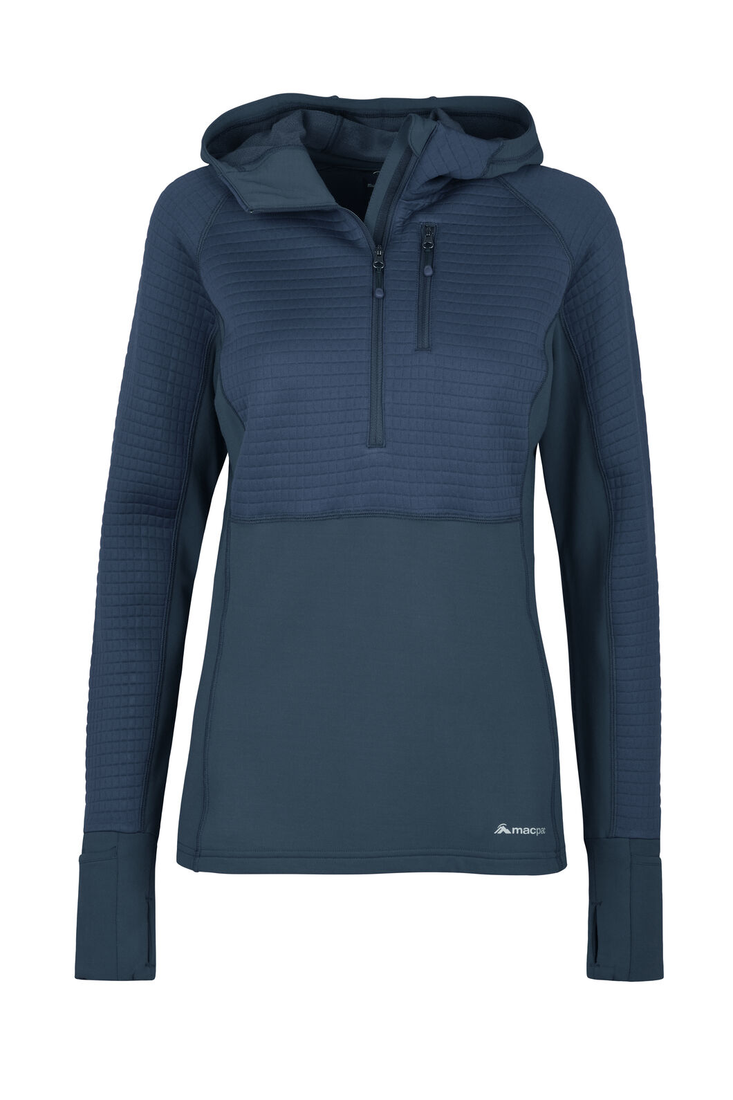 Macpac Delta Merino Blend Hooded Pullover — Women's, Medieval Blue, hi-res