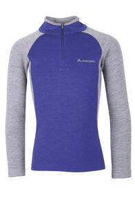 Macpac Taupo 320 Merino Pullover — Kids', Purple/ Grey Marle, hi-res