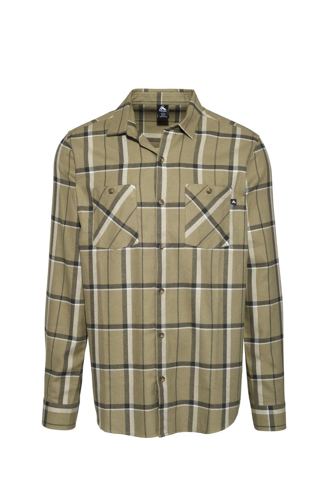 Macpac Porters Flannel Shirt — Men's, Covert Green/Moonbeam, hi-res