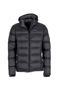 Men's Halo Hooded Down Jacket, Black, hi-res
