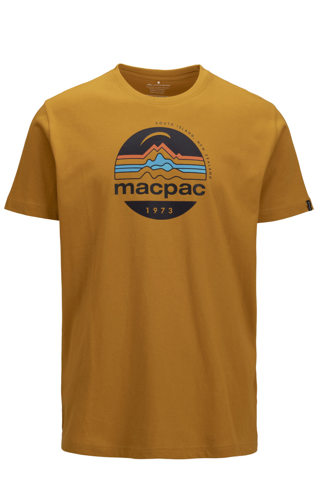 Macpac Men's Retro Short Sleeve Tee, Arrowwood, hi-res