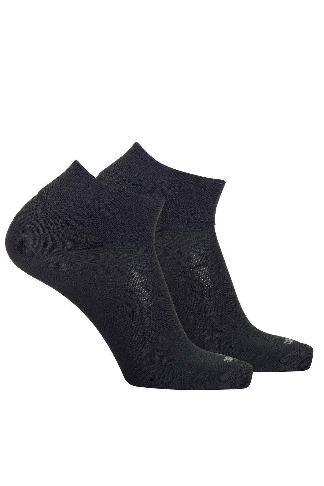 Macpac Merino Blend Quarter Socks — 2 Pack, Black, hi-res