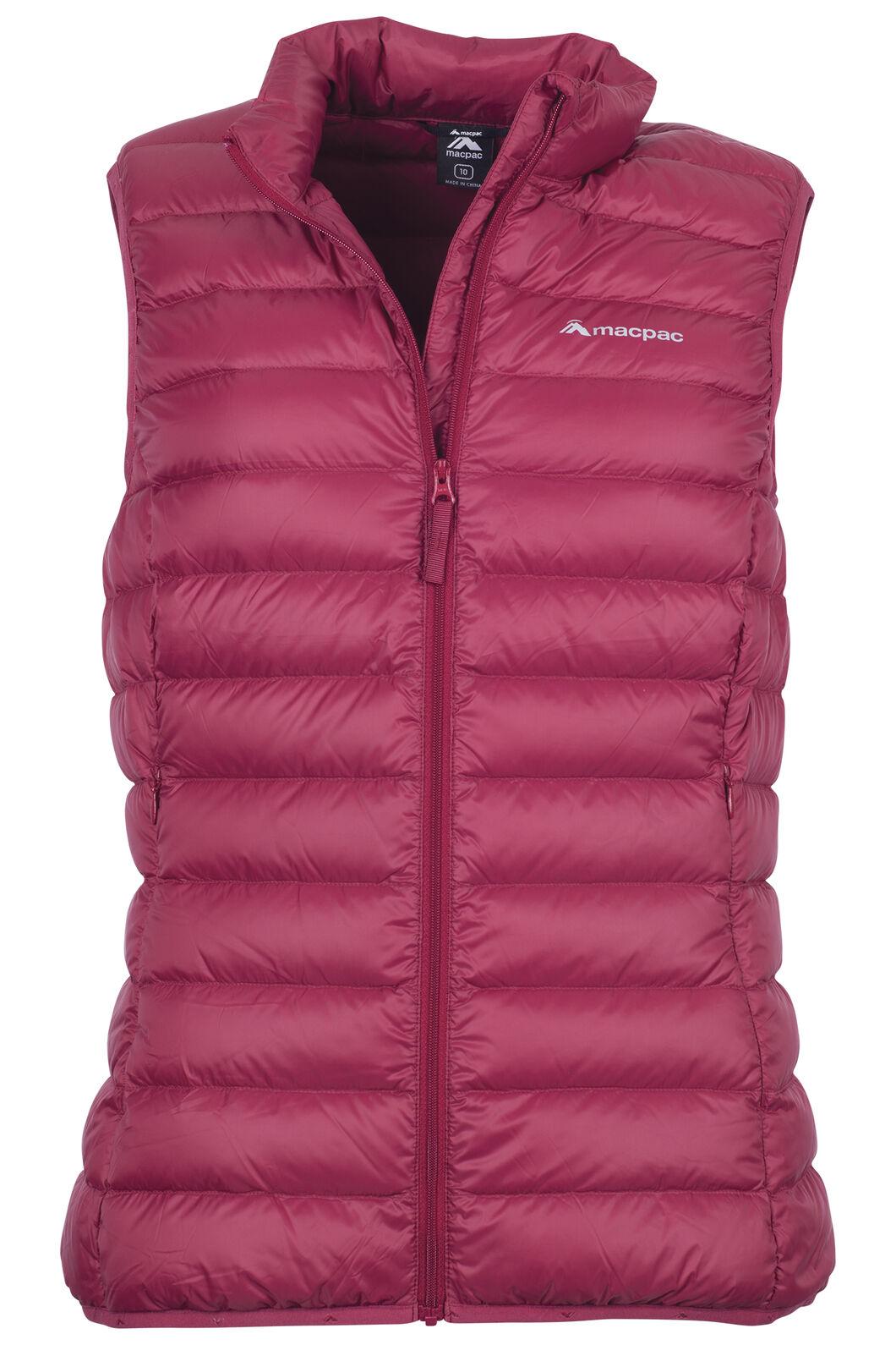 Macpac Uber Light Down Vest — Women's, Rumba Red, hi-res