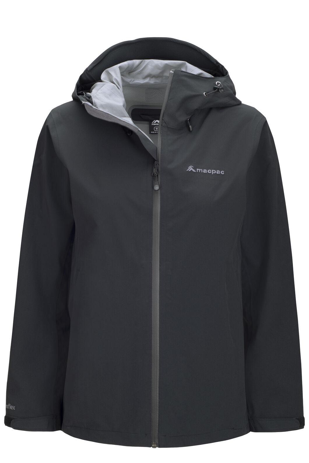 Macpac Women's Dispatch Rain Jacket, Black, hi-res