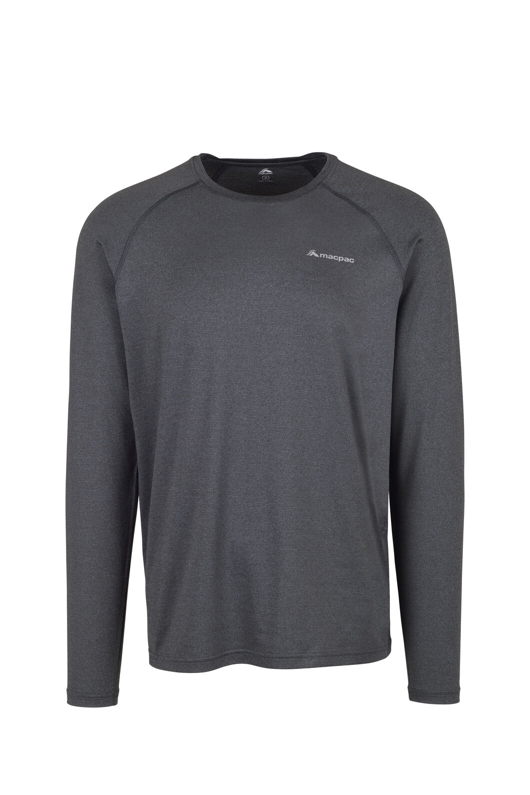 Macpac Eyre Long Sleeve Tee - Men's, Black, hi-res