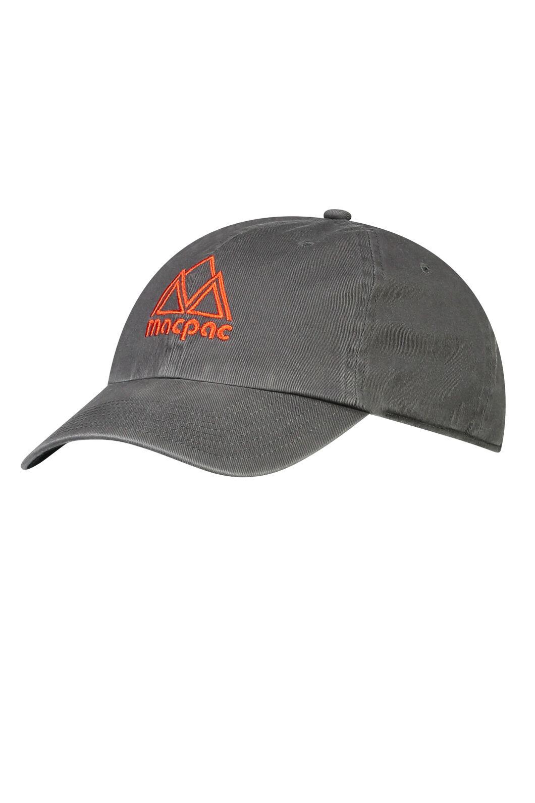 Macpac Vintage Cap, Charcoal/Indicator, hi-res