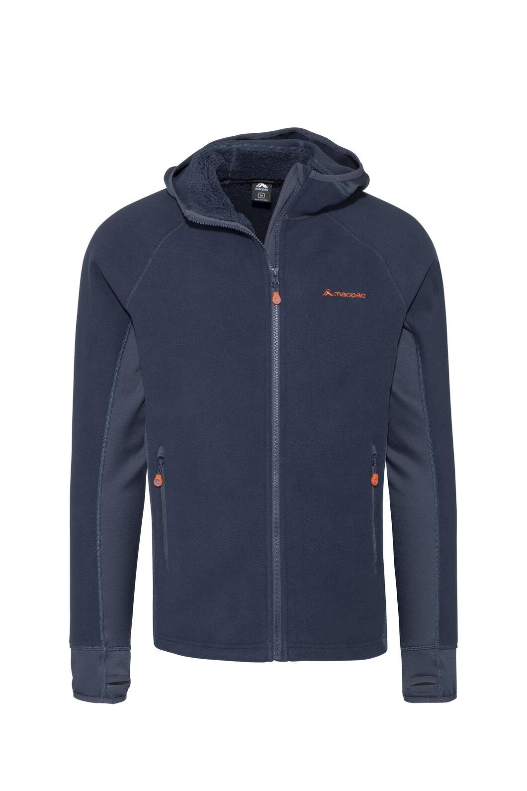 Macpac Mountain Hooded Jacket — Men's, Black Iris/Flame, hi-res