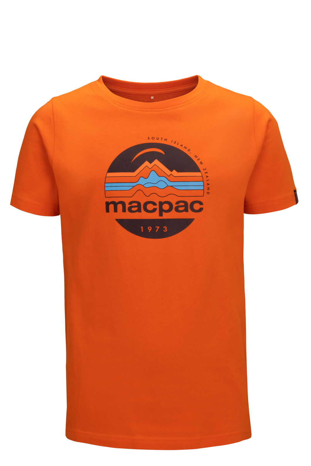 Macpac Kids' Retro Fairtrade Organic Cotton Tee, Russet Orange, hi-res