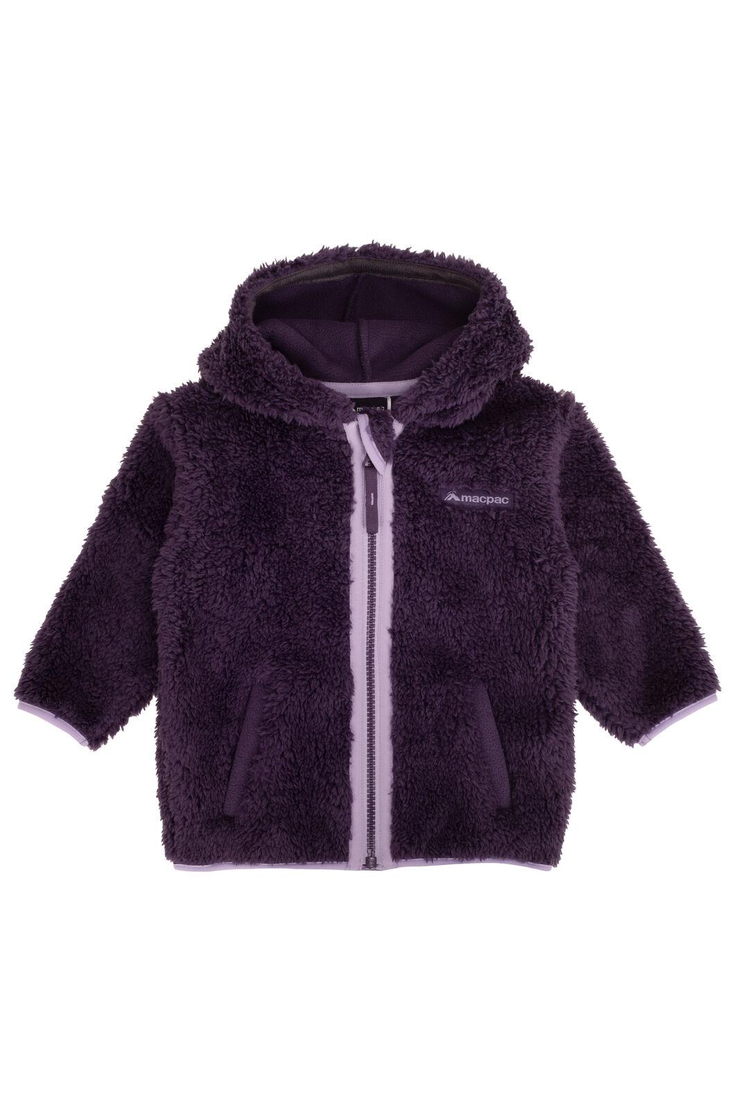 Macpac Baby Acorn Fleece Jacket, Nightshade, hi-res