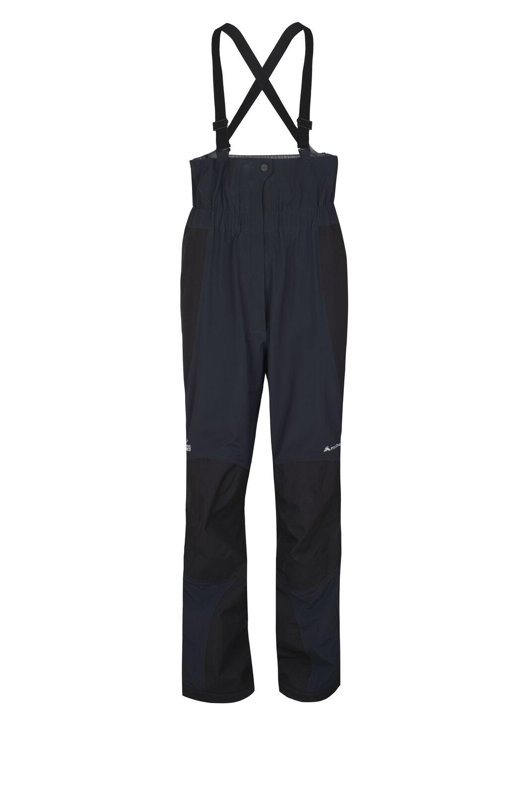 Macpac Women's Barrier Bib Pertex® Rain Pants, Black, hi-res